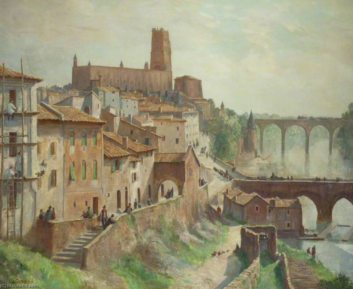 Albi, Oil On Canvas by Charles Ernest Cundall