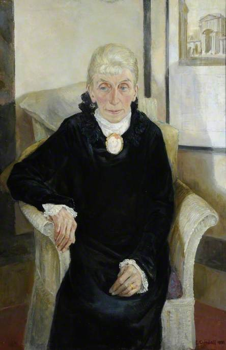 The Artist's Mother, Oil On Canvas by Charles Ernest Cundall