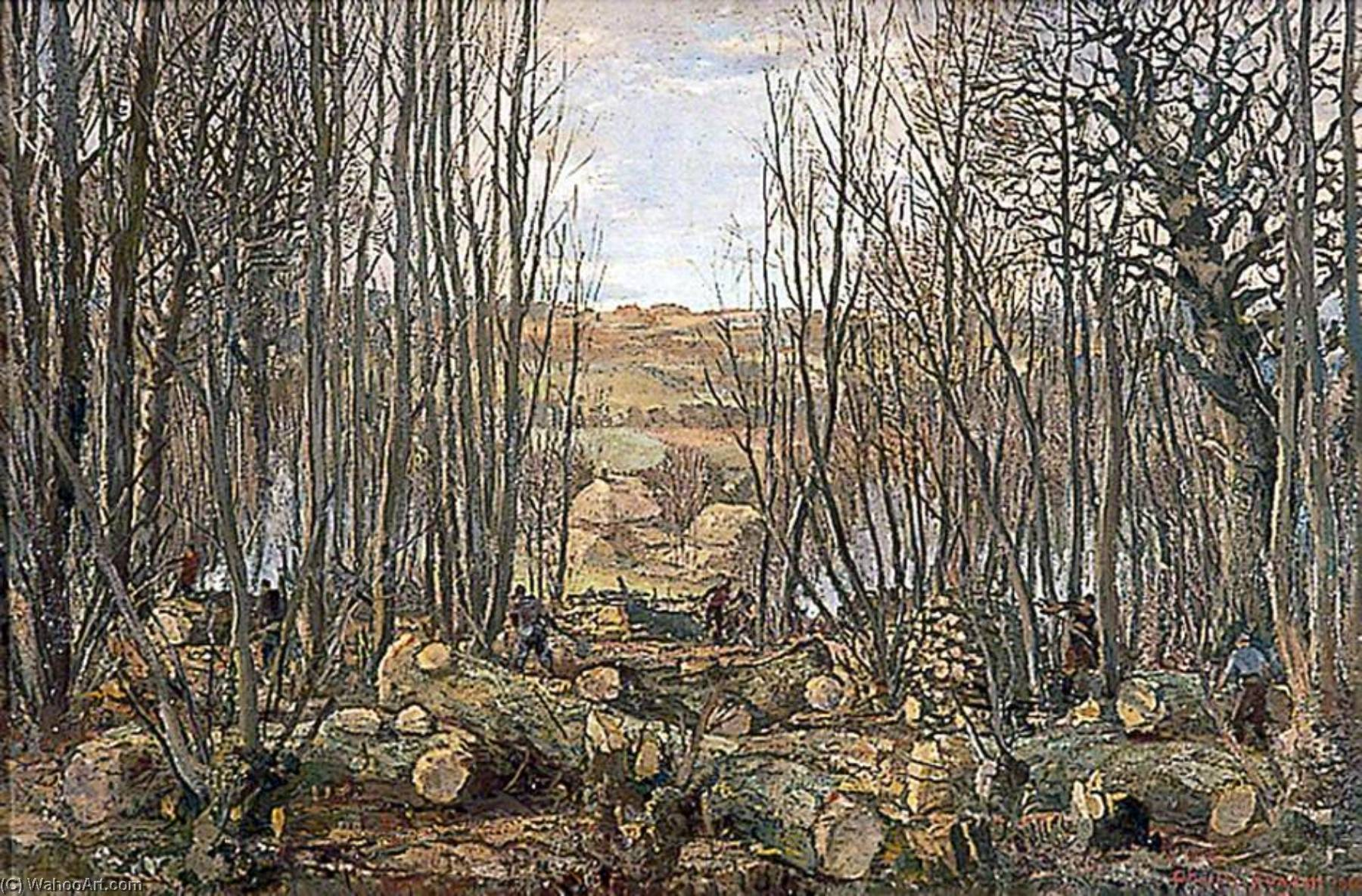The Clearing, 1946 by Charles Ernest Cundall | Oil Painting | WahooArt.com