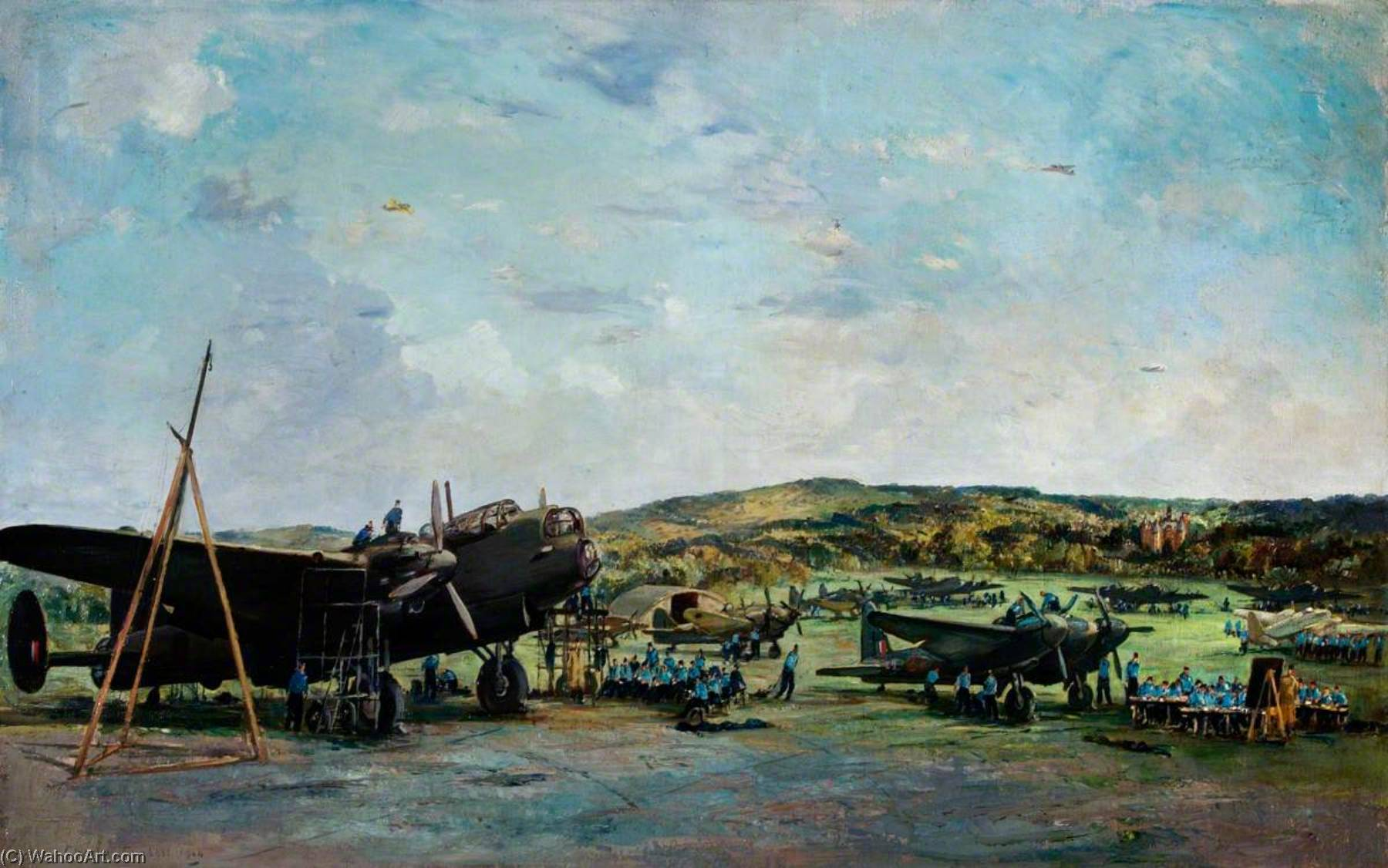 Halton Training Camp, Oil On Canvas by Charles Ernest Cundall