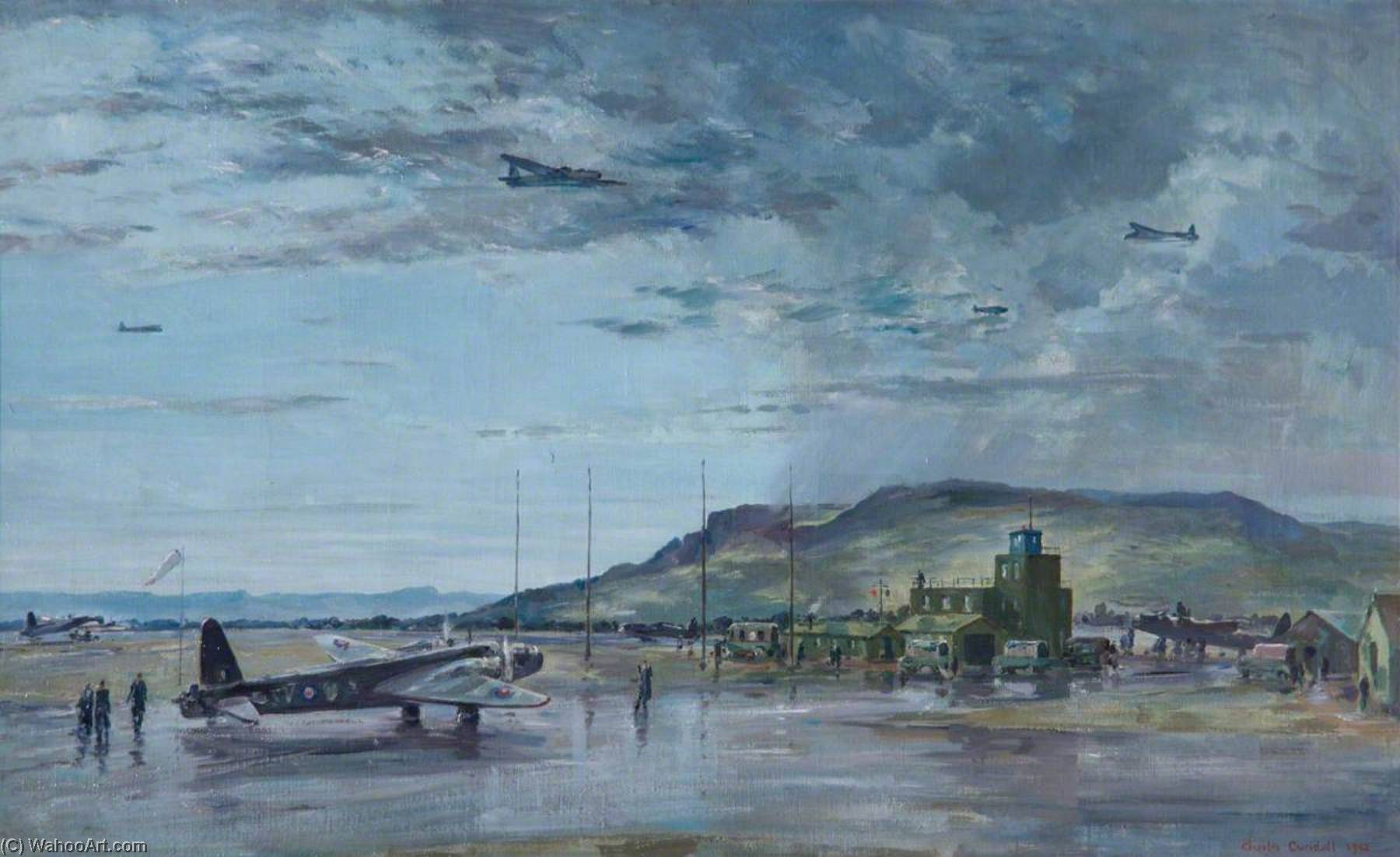 (Coastal) Operational Training Unit, Limavady, Northern Ireland, Oil On Canvas by Charles Ernest Cundall