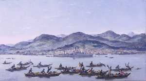 Charles Ernest Cundall - Arrival at Freetown, Sierra Leone