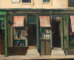 John Vicat Cole - Antique Shop