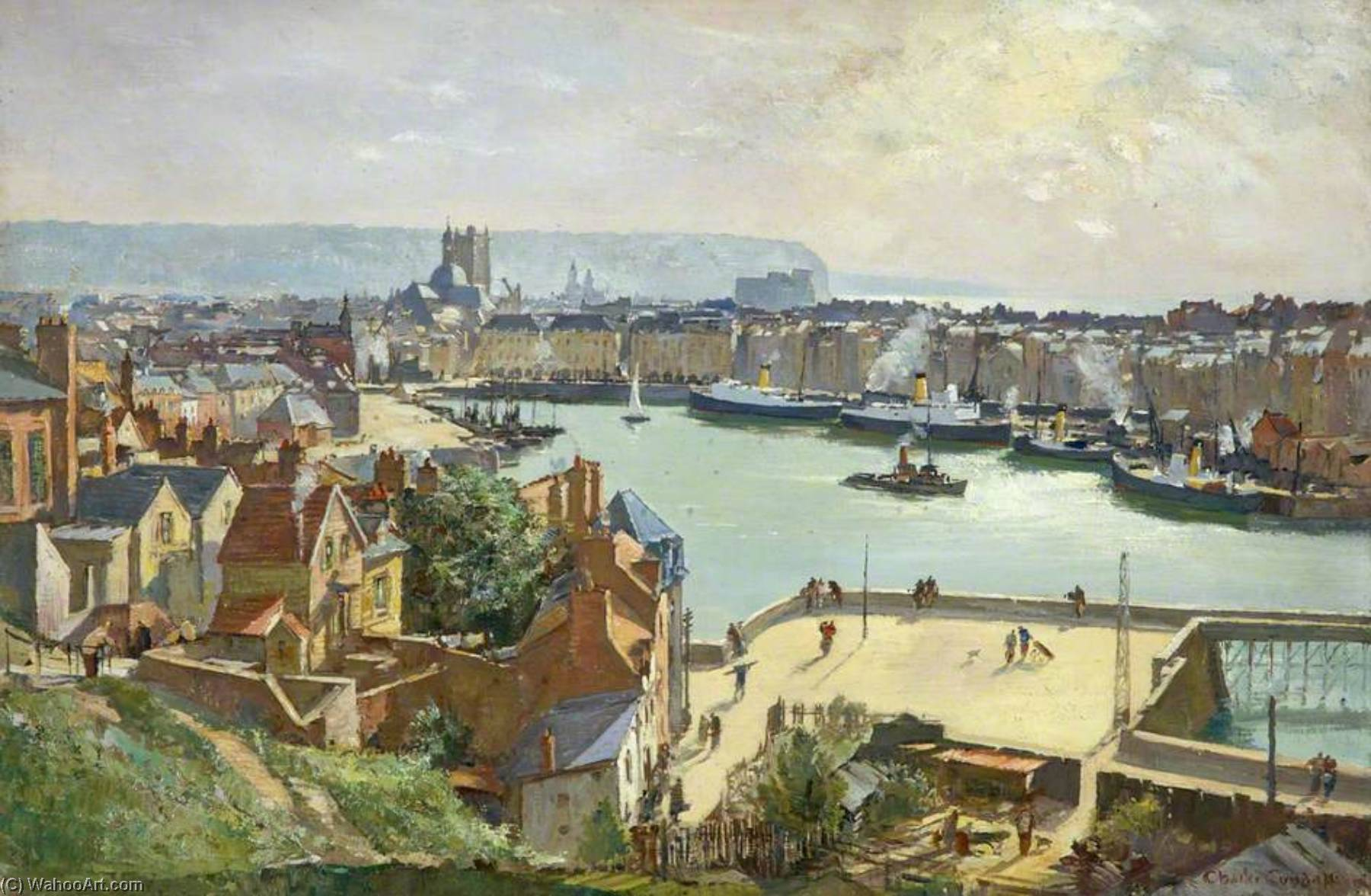 Dieppe, Oil On Canvas by Charles Ernest Cundall