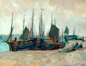 Charles Ernest Cundall - Low Tide