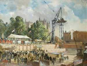 Charles Ernest Cundall - New Council House Foundation Stone Ceremony, 10th June 1938