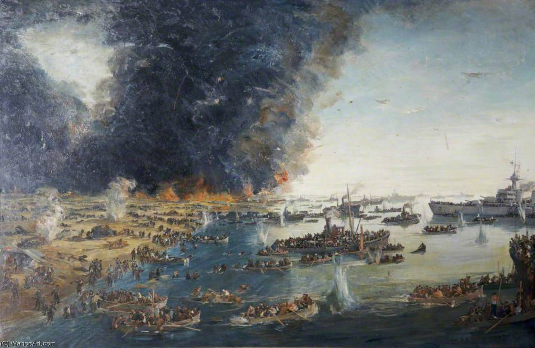 Dunkirk, Oil On Canvas by Charles Ernest Cundall