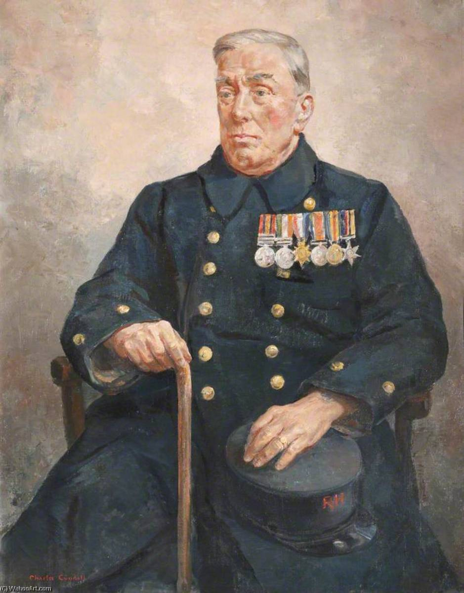 Tom Walker (b.1872), In Pensioner, Late of the Loyal Regiment, Oil On Canvas by Charles Ernest Cundall