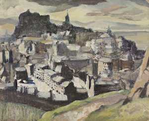 William Crozier - Study for 'Edinburgh (From Salisbury Crags)'