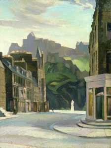 William Crozier - Edinburgh from Castle Street (verso)