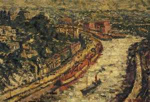 George Melhuish - View of Bristol from the Suspension Bridge