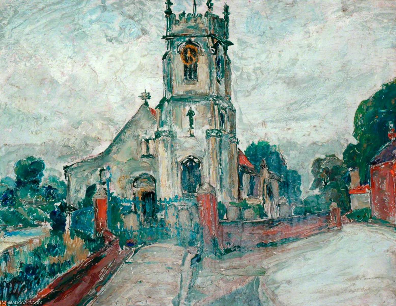 Order Reproductions | Cawood Church, 1933 by James Arundel | WahooArt.com