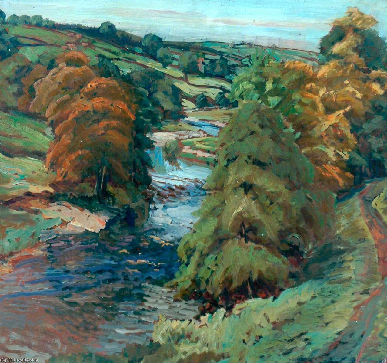 Order Reproductions | Near Barden Bridge by James Arundel | WahooArt.com