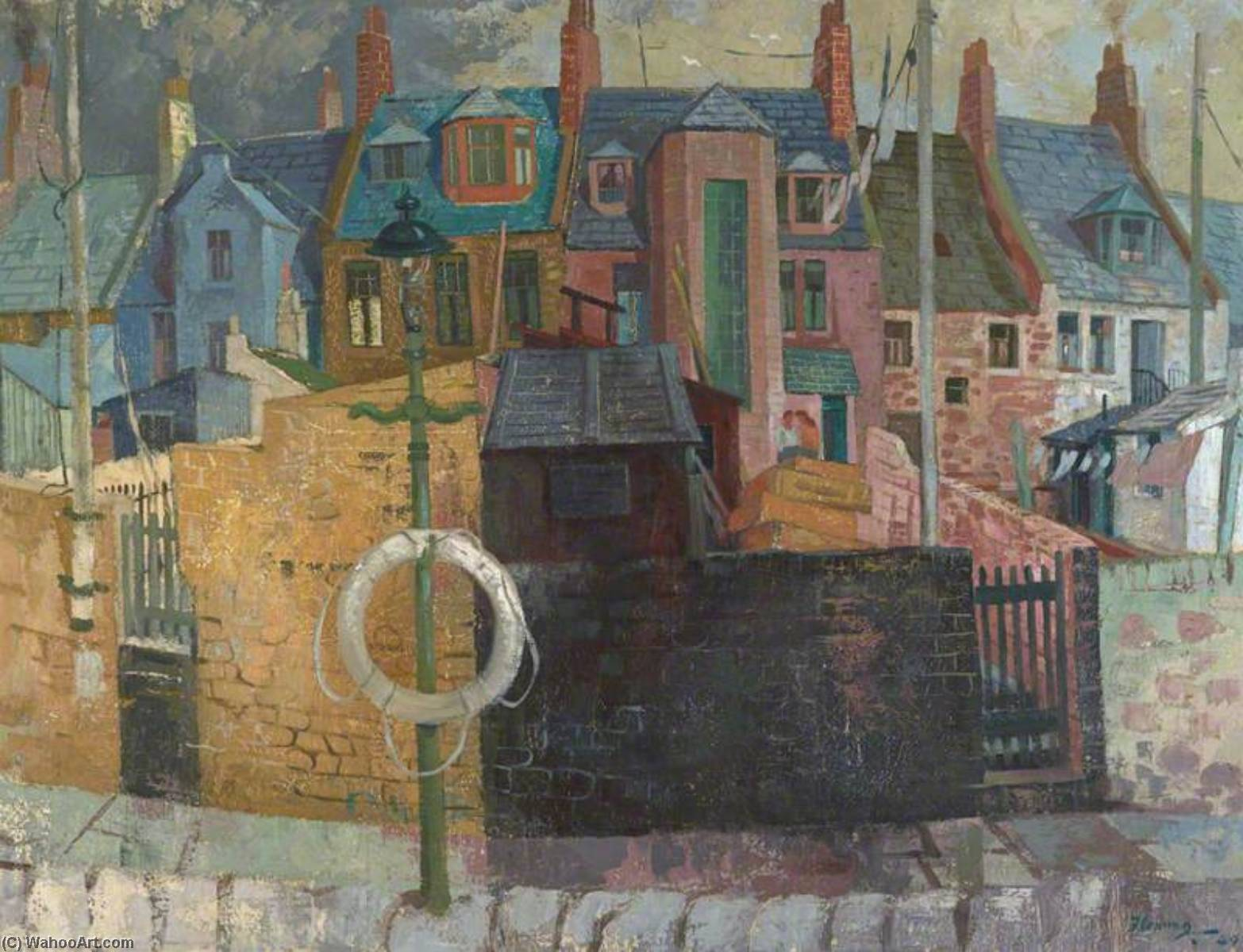 Order Reproductions | Fisher Houses, Arbroath, 1949 by Ian Fleming | WahooArt.com