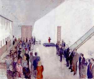 John Stanton Ward - Opening of the Ondaatje Wing, National Portrait Gallery, in the Presence of Queen Elizabeth II, 4 May 2000
