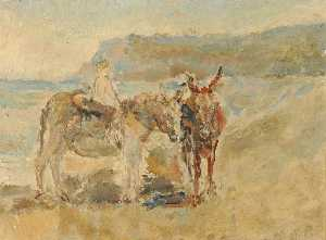 Ethel Walker - Donkeys on the Shore