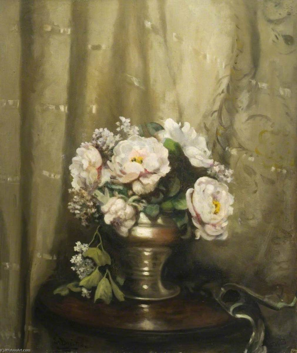 Peonies in a Silver Bowl, 1930 by Ethel Susan Graham Bristowe | Museum Quality Reproductions | WahooArt.com