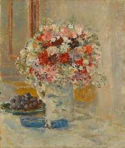 Ethel Walker - Flowers and Grapes
