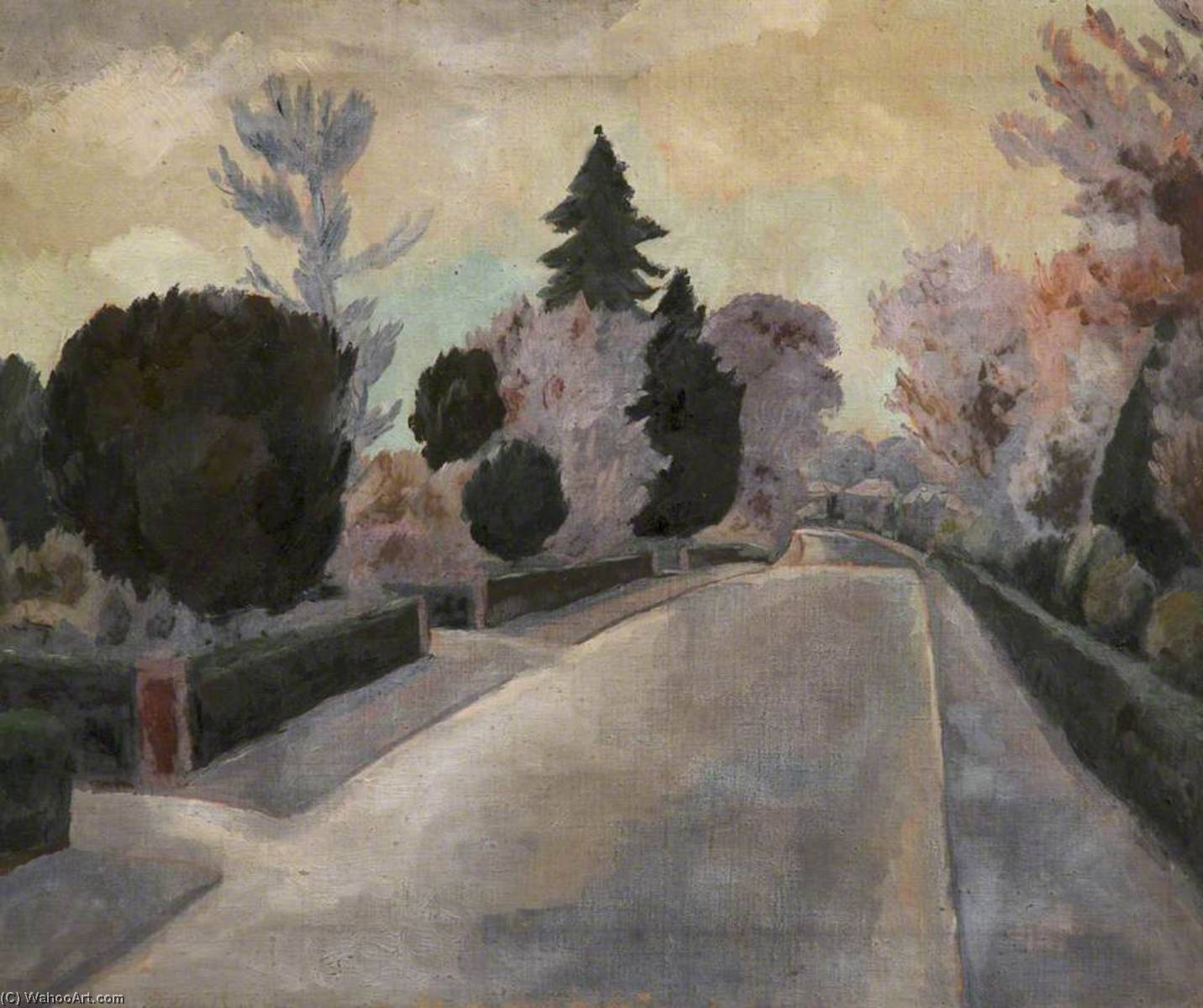 The Wet Road, Oil On Canvas by William Townsend