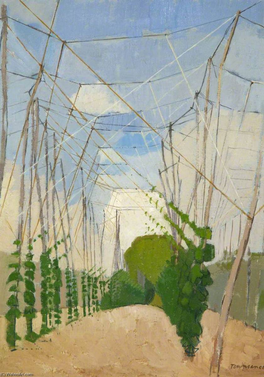 Hop Alley, Oil On Canvas by William Townsend