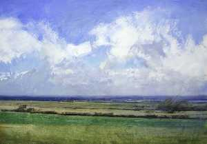 Robert Perry - View from Messines Ridge, Belgium
