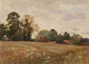 John Alfred Arnesby Brown - Poppy Field (verso)
