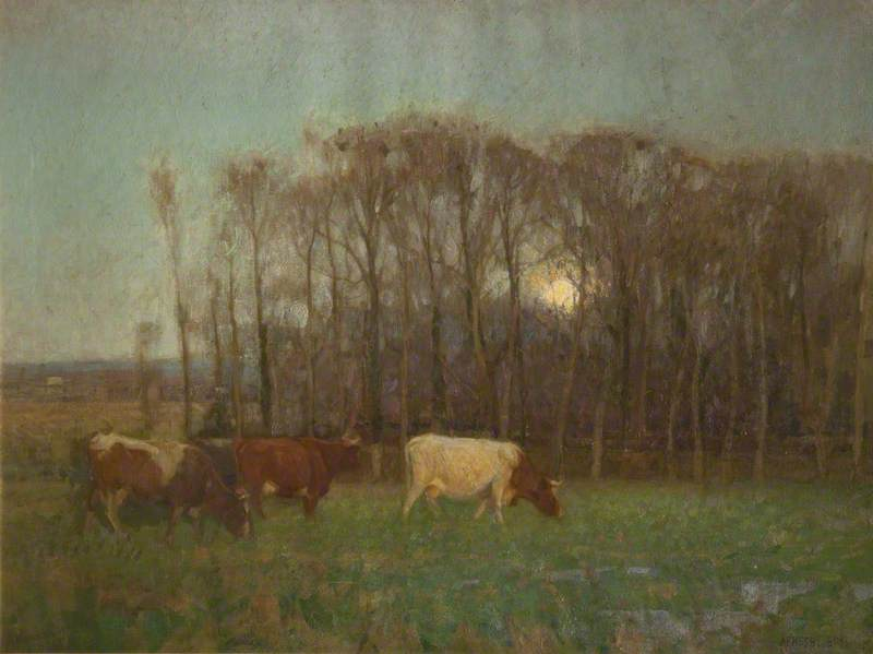 Fading Day, Oil On Canvas by John Alfred Arnesby Brown
