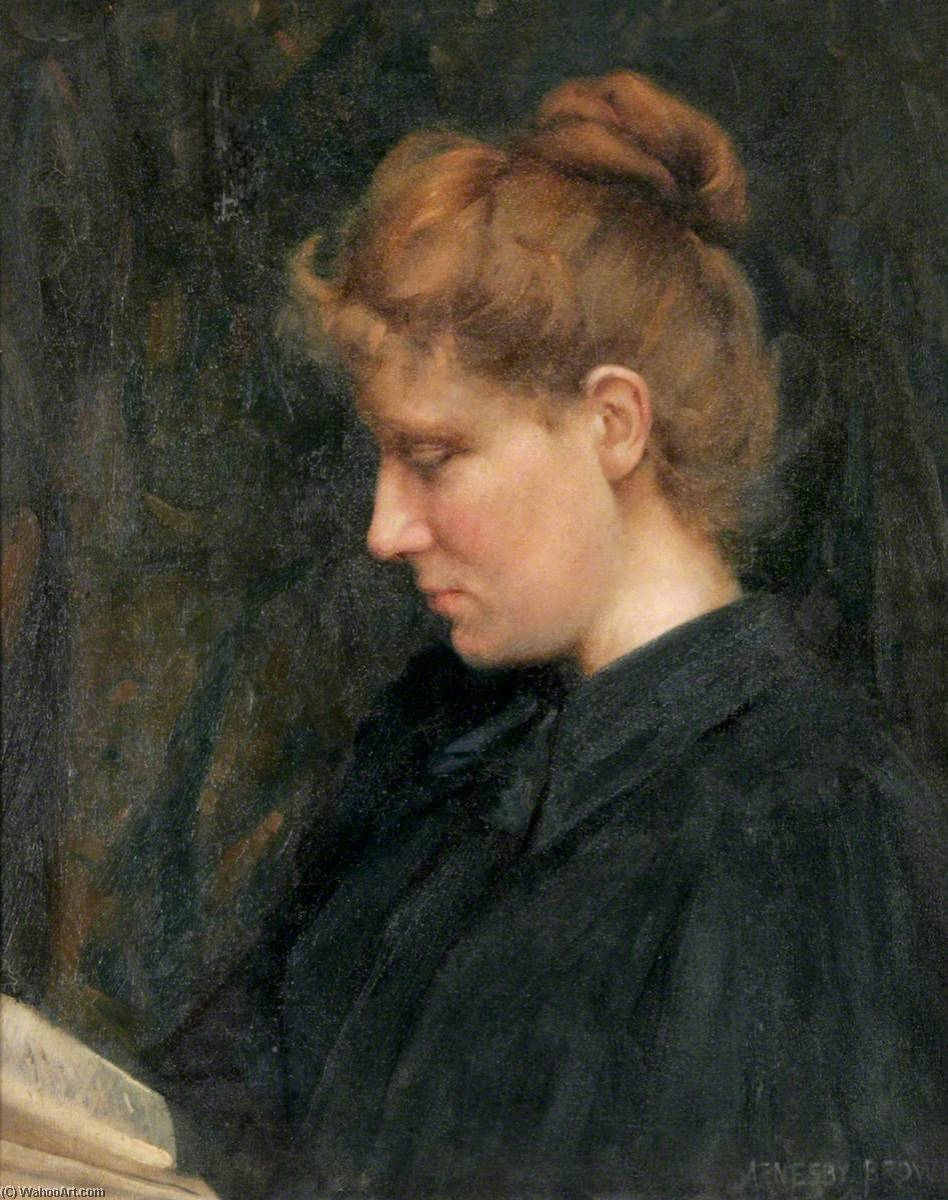 Myra Plater, Sister of the Artist, Oil On Canvas by John Alfred Arnesby Brown