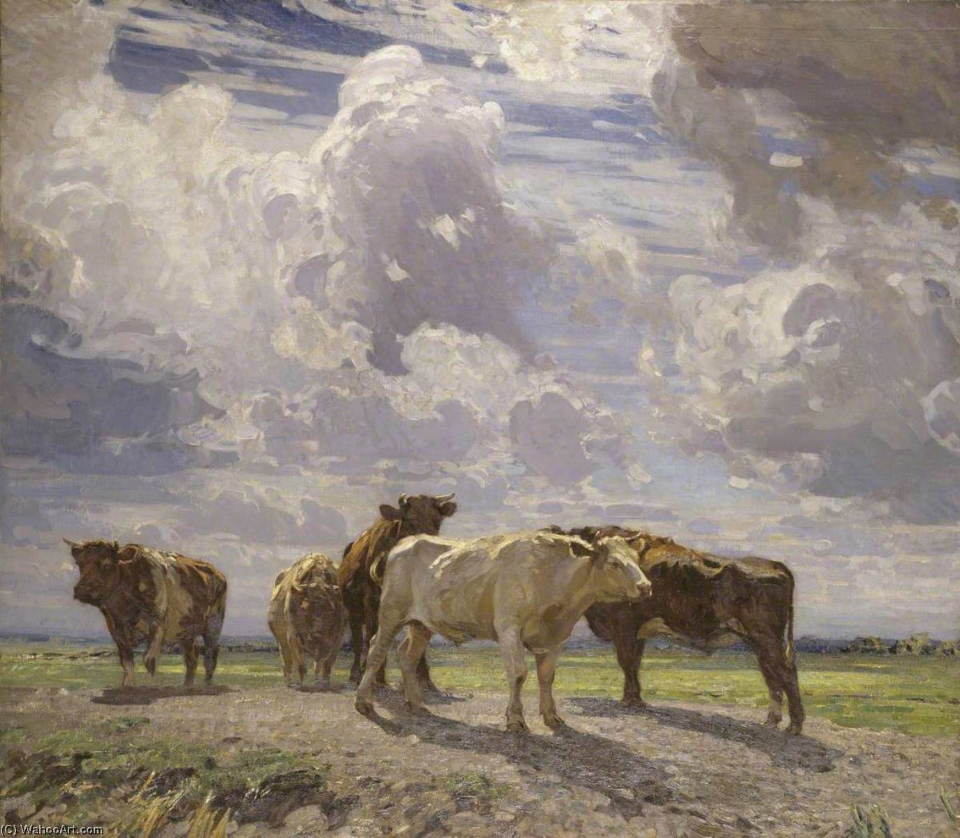 Silver Morning, Oil On Canvas by John Alfred Arnesby Brown