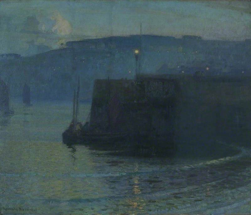 The Pier, Oil On Canvas by John Alfred Arnesby Brown