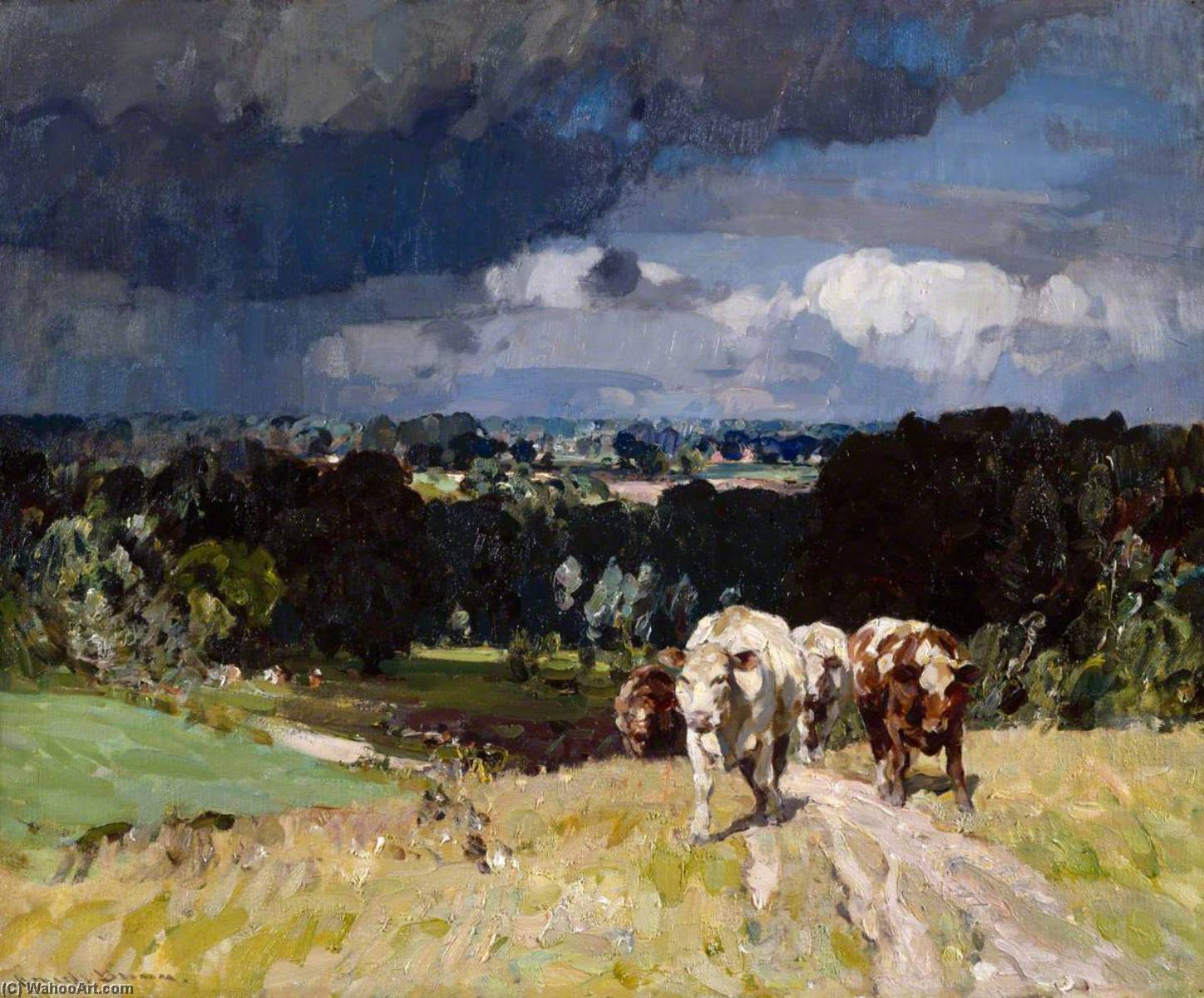 The Raincloud, Oil On Canvas by John Alfred Arnesby Brown
