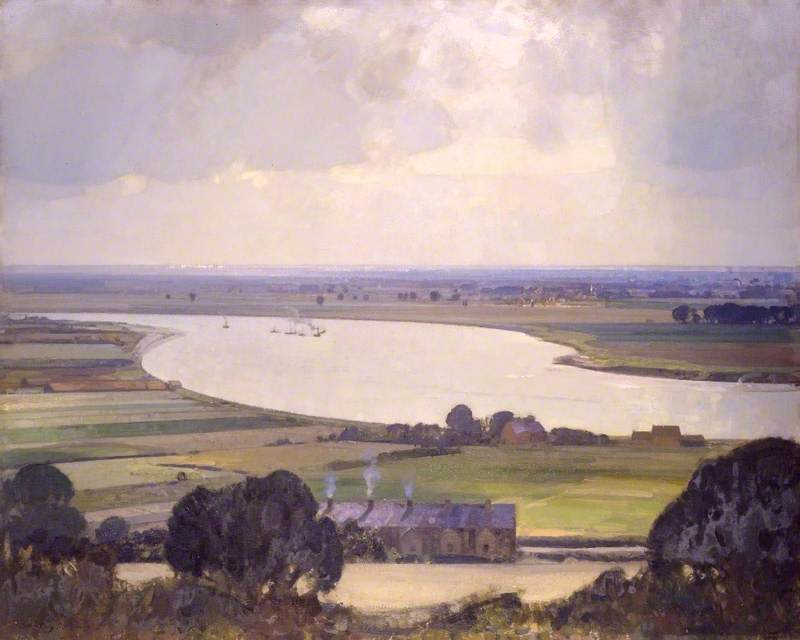 The Smug and Silver Trent, Oil On Canvas by John Alfred Arnesby Brown