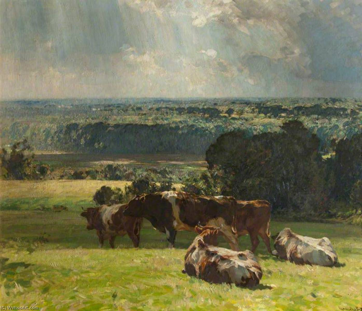 A Norfolk Landscape, Oil On Canvas by John Alfred Arnesby Brown