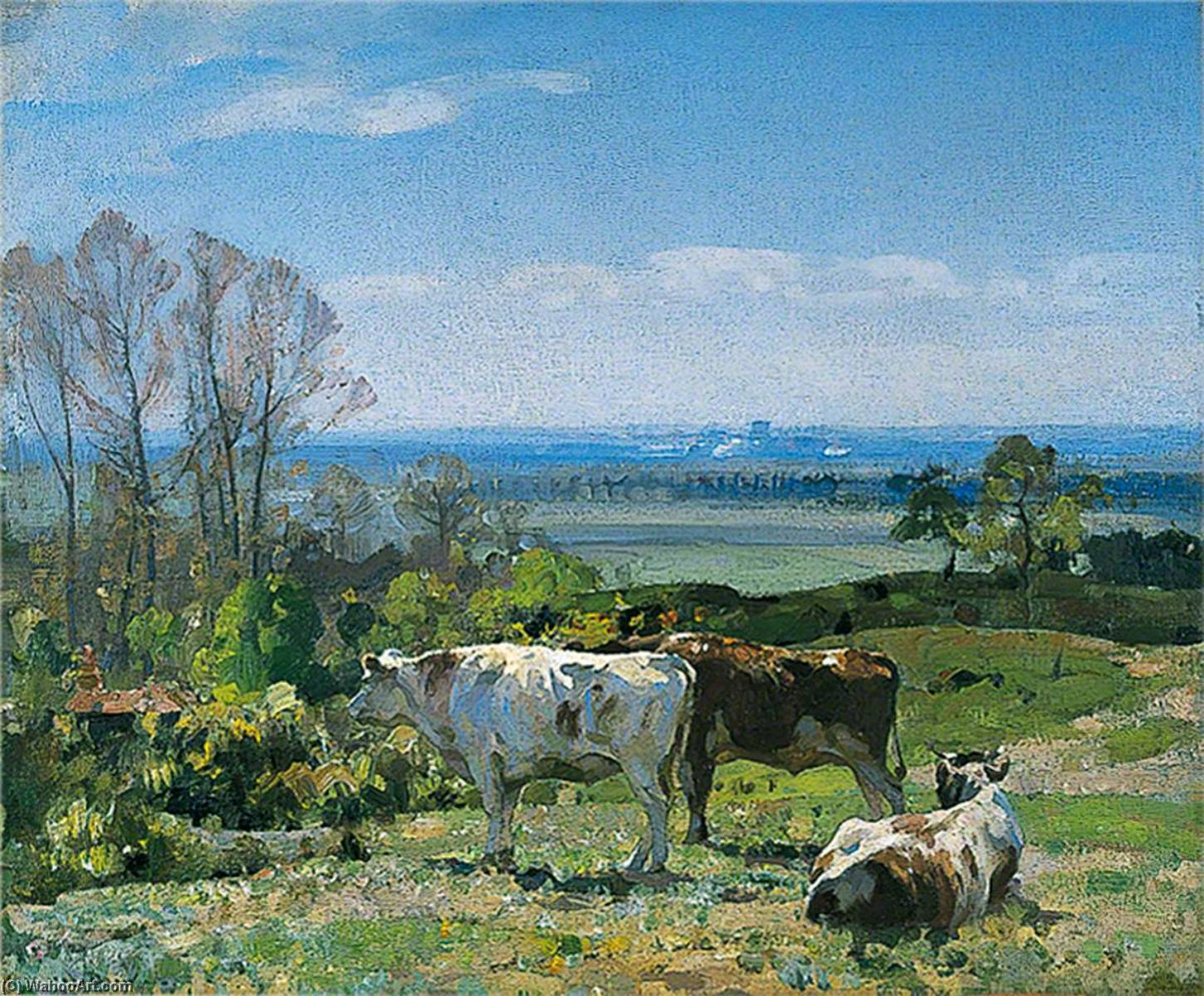 Spring, Oil On Canvas by John Alfred Arnesby Brown