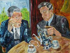 Roy Yorke Calne - Mr Sloots and Mr Wright Having Tea