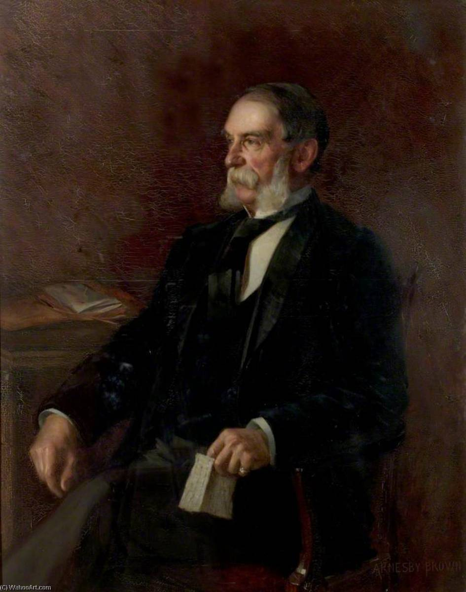 Alderman William Lambert, Oil On Canvas by John Alfred Arnesby Brown