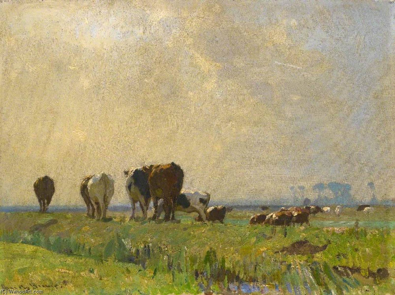 Autumn Morning, Oil On Canvas by John Alfred Arnesby Brown