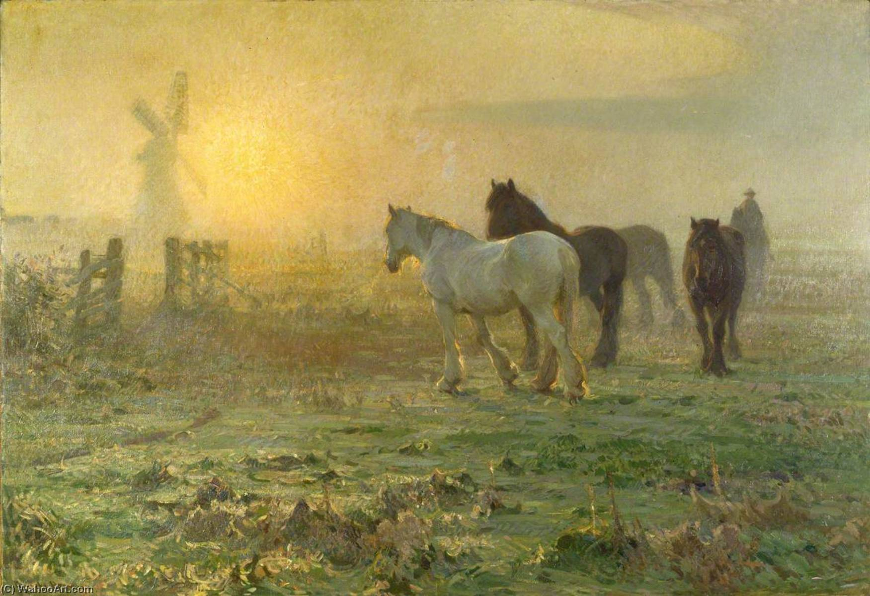 The Coming Day, Oil On Canvas by John Alfred Arnesby Brown