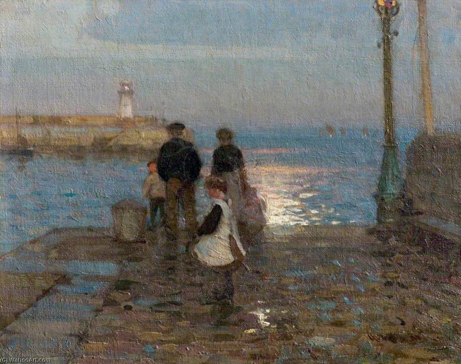 Study for 'The Two Piers', Oil On Canvas by John Alfred Arnesby Brown