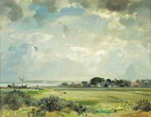 John Alfred Arnesby Brown - Suffolk River