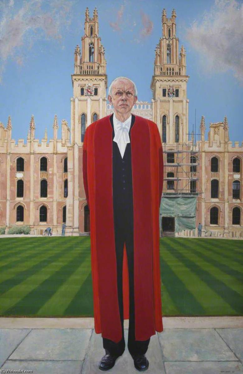 Sir Francis Patrick Neill (b.1926), 1990 by Keith Grant | Famous Paintings Reproductions | WahooArt.com