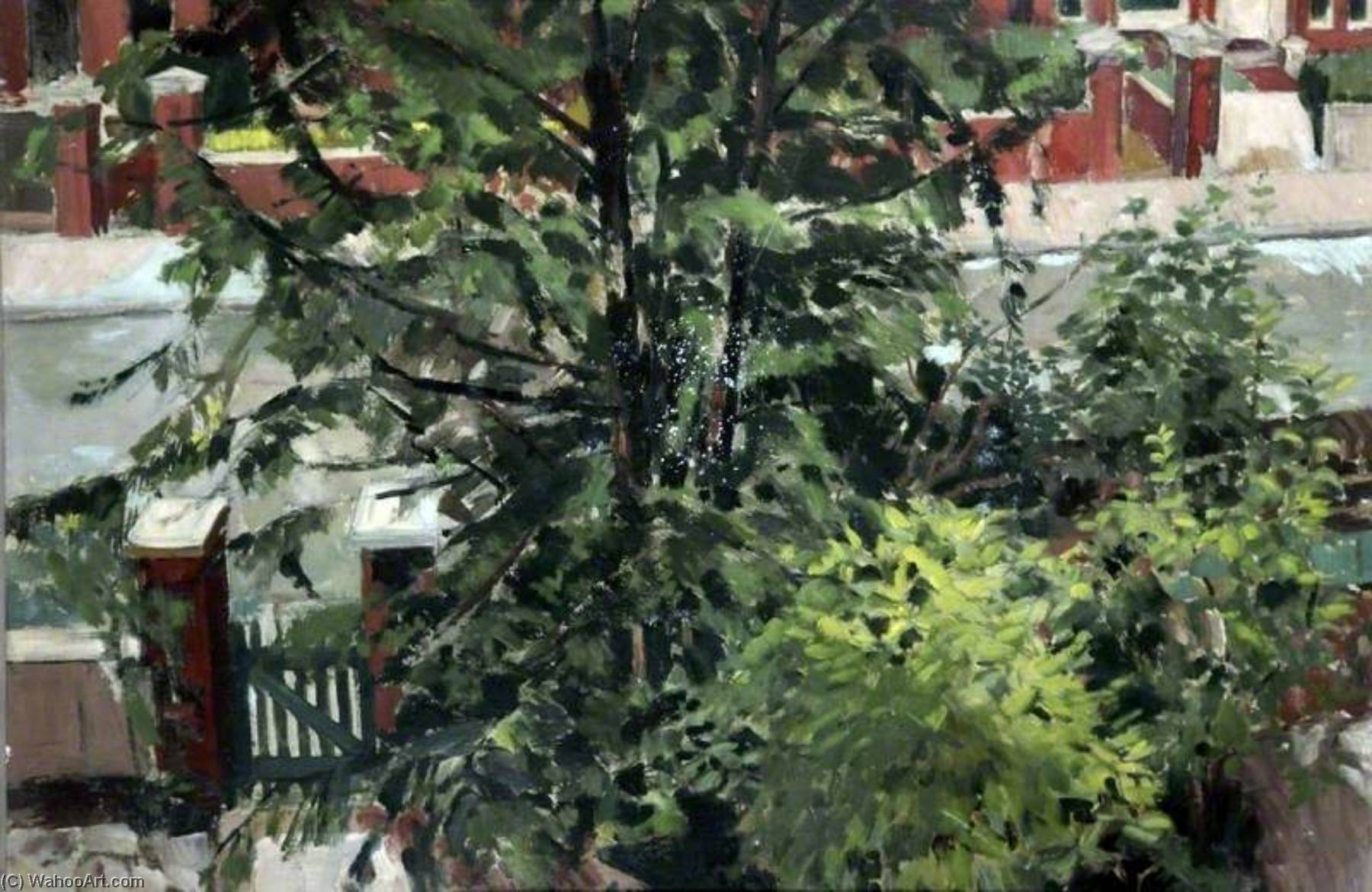 View from the Bedroom Window, Oil by Keith Grant