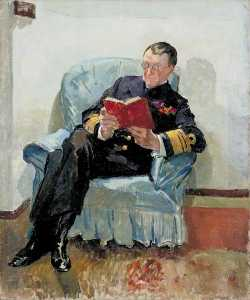 Philip Connard - Vice Admiral the Honourable Sir Somerset A. Gough Calthorpe (1864–1937), GCMG, KCB, CVO, on Board HMS 'Superb' at Constantinople