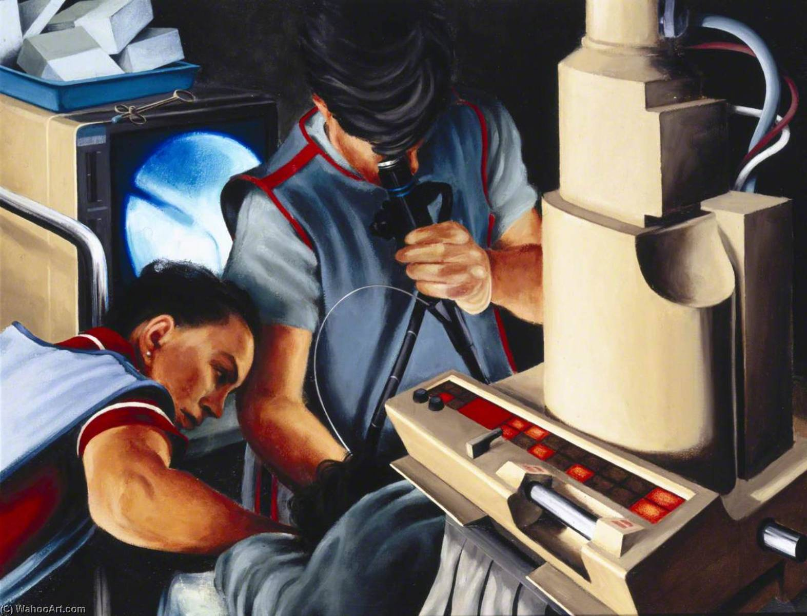 In the X ray Unit, 1994 by Keith Holmes | Oil Painting | WahooArt.com