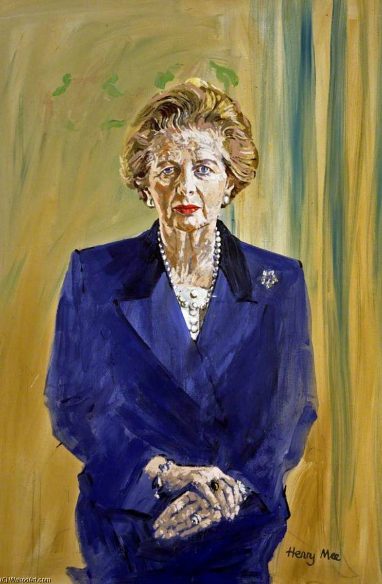 The Right Honourable Margaret Thatcher, Prime Minister, Oil On Canvas by Henry Mee