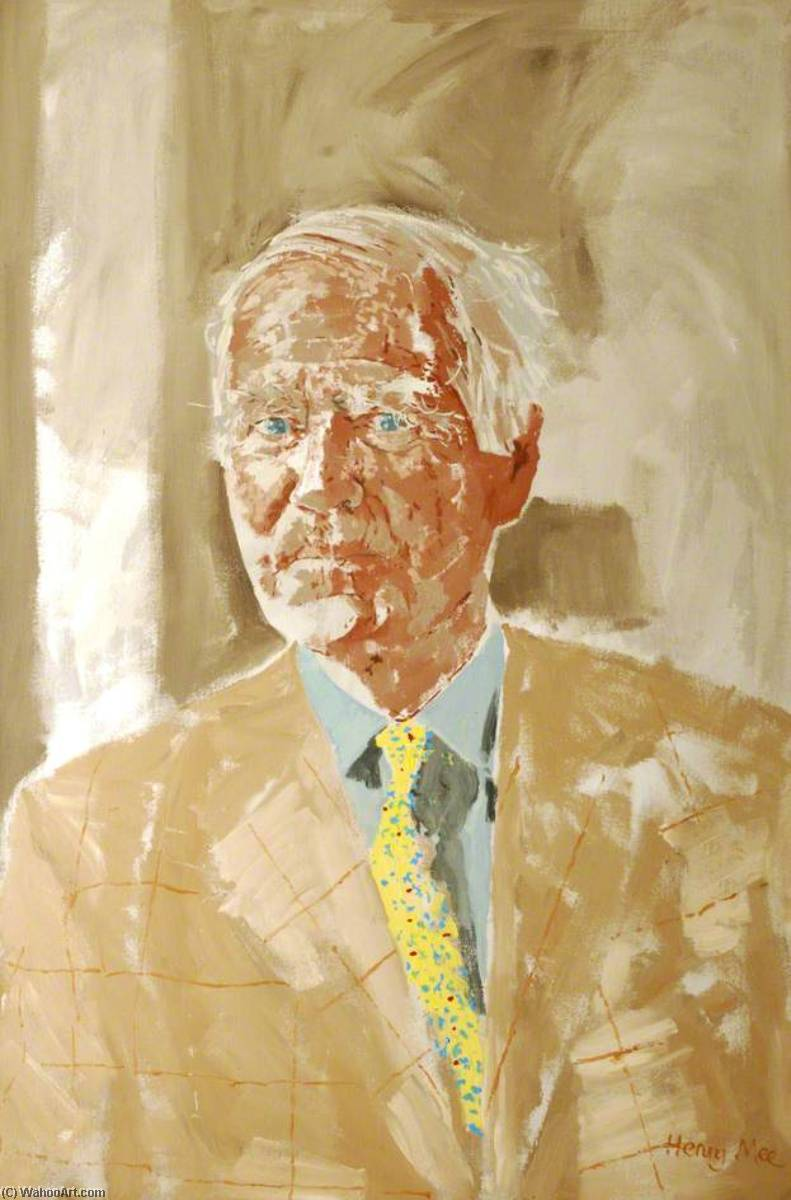 Sir Marrack Goulding (1937–2010), Acrylic On Canvas by Henry Mee