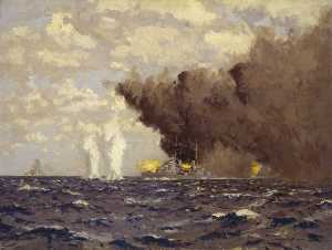 Norman Wilkinson - Admiral Vian's Action at the Battle of Sirte, 22 March 1942
