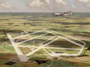 Norman Wilkinson - Heathrow from the Air