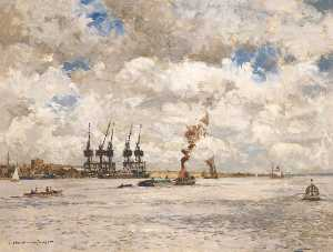 Norman Wilkinson - Below Tilbury, Essex
