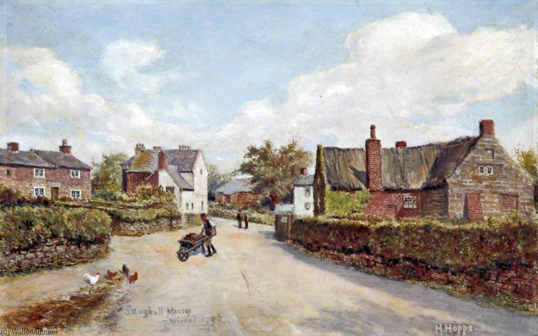 Saughall Massie, Wirral, 1906 by Harold Hopps | Famous Paintings Reproductions | WahooArt.com
